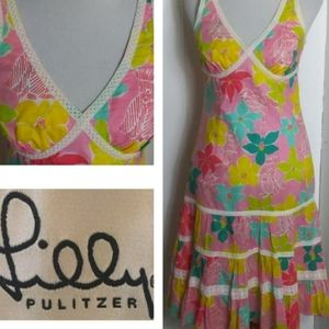 Lilly Pulitzer Vintage Parrot-ize Tiered  Dress 6